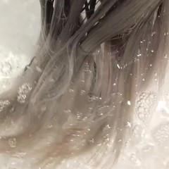 バレイヤージュ 外国人風カラー グラデーションカラー ハイトーン ヘアスタイルや髪型の写真・画像