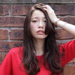 ロング アンニュイ 大人かわいい かわいい ヘアスタイルや髪型の写真・画像