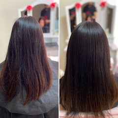 ナチュラル 髪質改善トリートメント 髪質改善カラー ロング ヘアスタイルや髪型の写真・画像