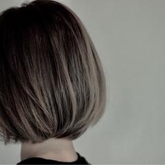 透明感 外国人風 ボブ バレイヤージュ ヘアスタイルや髪型の写真・画像