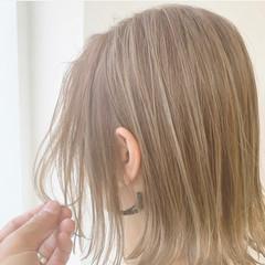 ボブ 大人可愛い 透け感ヘア 透明感 ヘアスタイルや髪型の写真・画像