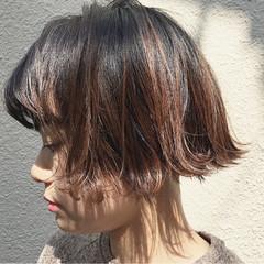 外国人風 前髪あり ボブ ガーリー ヘアスタイルや髪型の写真・画像