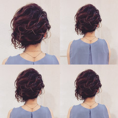大人女子 パーティ ヘアアレンジ ショート ヘアスタイルや髪型の写真・画像