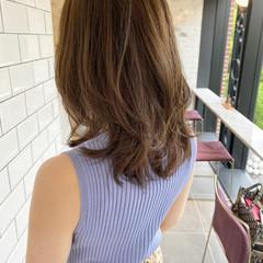 レイヤーロングヘア レイヤーヘアー レイヤースタイル セミロング ヘアスタイルや髪型の写真・画像