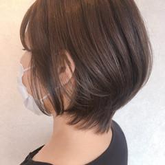 ミニボブ ナチュラル ショートボブ ショート ヘアスタイルや髪型の写真・画像