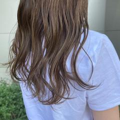 ナチュラル 透明感カラー ミルクティーブラウン ベージュ ヘアスタイルや髪型の写真・画像