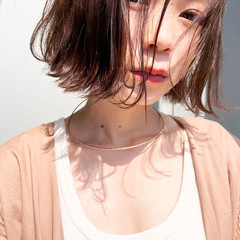 透明感 フェミニン 切りっぱなし 色気 ヘアスタイルや髪型の写真・画像