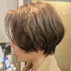 ショート アッシュ ハンサムショート コンサバ ヘアスタイルや髪型の写真・画像