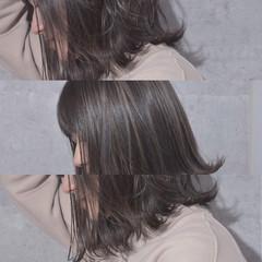 ボブ バレイヤージュ モード 外ハネ ヘアスタイルや髪型の写真・画像