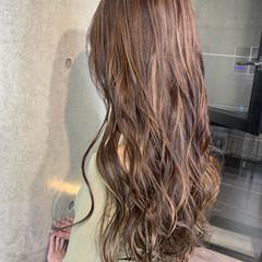 3Dハイライト ブラウンベージュ ミルクティーベージュ ハイライト ヘアスタイルや髪型の写真・画像