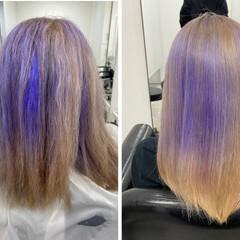 ロング コンサバ 縮毛矯正 髪質改善 ヘアスタイルや髪型の写真・画像
