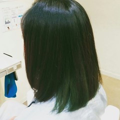 ミディアム 黒髪 ストリート ロブ ヘアスタイルや髪型の写真・画像