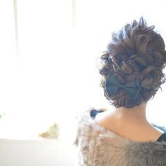 二次会 波ウェーブ ロング 結婚式 ヘアスタイルや髪型の写真・画像