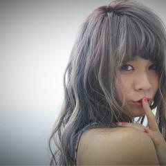 波ウェーブ ストリート フェミニン セミロング ヘアスタイルや髪型の写真・画像
