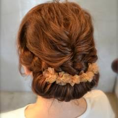 ヘアアレンジ 二次会 ゆるふわ 大人かわいい ヘアスタイルや髪型の写真・画像
