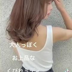 ミディアムヘアー セミロング 韓国ヘア エレガント ヘアスタイルや髪型の写真・画像