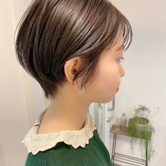 ショートヘア ナチュラル デート ショートボブ ヘアスタイルや髪型の写真・画像
