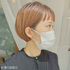 透明感 モード ショートバング ショート ヘアスタイルや髪型の写真・画像