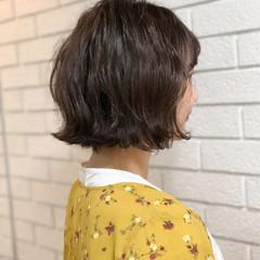 ナチュラル 外ハネ ボブ 秋 ヘアスタイルや髪型の写真・画像