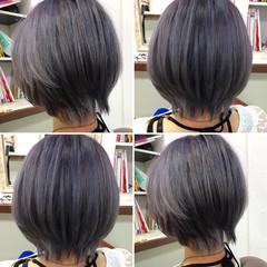 ストリート 暗髪 ショート ダブルカラー ヘアスタイルや髪型の写真・画像