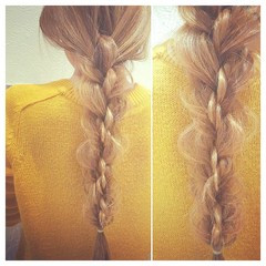 外国人風 ヘアアレンジ 三つ編み 大人かわいい ヘアスタイルや髪型の写真・画像