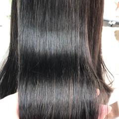 髪質改善トリートメント 縮毛矯正 ロング ツヤ髪 ヘアスタイルや髪型の写真・画像