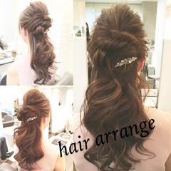 ロング 簡単ヘアアレンジ ショート パーティ ヘアスタイルや髪型の写真・画像