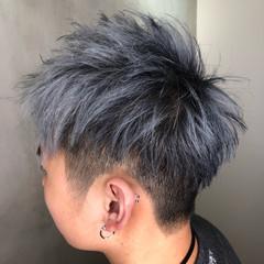 ショート ストリート ホワイトグレージュ グレージュ ヘアスタイルや髪型の写真・画像
