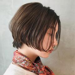 オフィス ナチュラル デート ショート ヘアスタイルや髪型の写真・画像
