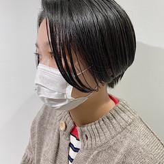 ショートヘア 透明感カラー インナーカラー ショート ヘアスタイルや髪型の写真・画像