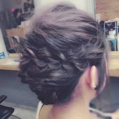 ねじり ヘアアレンジ 外国人風 ストリート ヘアスタイルや髪型の写真・画像