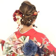 成人式 ナチュラル 簡単ヘアアレンジ ヘアアレンジ ヘアスタイルや髪型の写真・画像