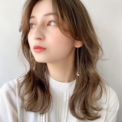 アンニュイほつれヘア ガーリー デート 愛され ヘアスタイルや髪型の写真・画像