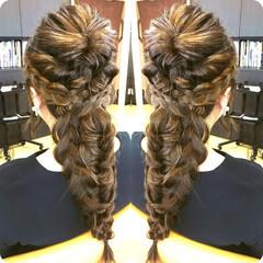 ヘアアレンジ ゆるふわ 編み込み 大人女子 ヘアスタイルや髪型の写真・画像