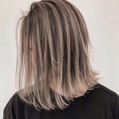 外国人風 ミディアム ハイライト グラデーション ヘアスタイルや髪型の写真・画像