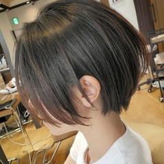 ボブ グレージュ ショートボブ ミニボブ ヘアスタイルや髪型の写真・画像