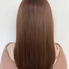 ロング モテ髪 ピンクベージュ 艶髪 ヘアスタイルや髪型の写真・画像