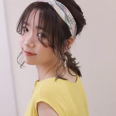 パーマ ミディアム ヘアアレンジ 簡単ヘアアレンジ ヘアスタイルや髪型の写真・画像