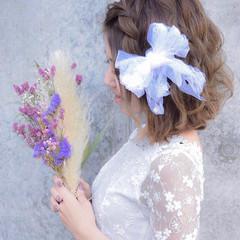 結婚式 ヘアアレンジ 成人式 エレガント ヘアスタイルや髪型の写真・画像