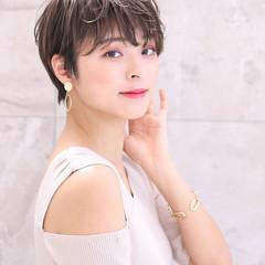 ショート 毛先パーマ ショートボブ デジタルパーマ ヘアスタイルや髪型の写真・画像