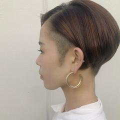 ショート マニッシュ ハンサムショート 刈り上げショート ヘアスタイルや髪型の写真・画像
