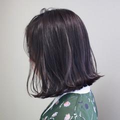 ミディアム 外ハネ ボブ ゆるふわ ヘアスタイルや髪型の写真・画像