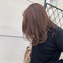 大人かわいい 韓国ヘア ミルクティーベージュ 大人ハイライト ヘアスタイルや髪型の写真・画像