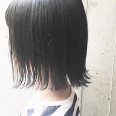 ナチュラル 透明感 切りっぱなし 大人女子 ヘアスタイルや髪型の写真・画像
