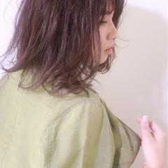 ハイライト グラデーションカラー ナチュラル ミディアム ヘアスタイルや髪型の写真・画像