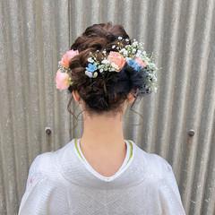 フェミニン 結婚式 謝恩会 ヘアアレンジ ヘアスタイルや髪型の写真・画像