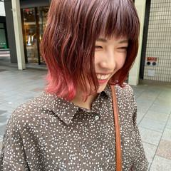 ミディアム ナチュラル ブリーチカラー グラデーションカラー ヘアスタイルや髪型の写真・画像