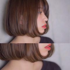 フェミニン アンニュイ ボブ ウェーブ ヘアスタイルや髪型の写真・画像