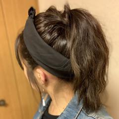 ポニーテール ポニーテールアレンジ ロング カチューシャ ヘアスタイルや髪型の写真・画像