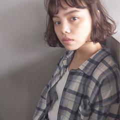 くせ毛風 パーマ 黒髪 リラックス ヘアスタイルや髪型の写真・画像
